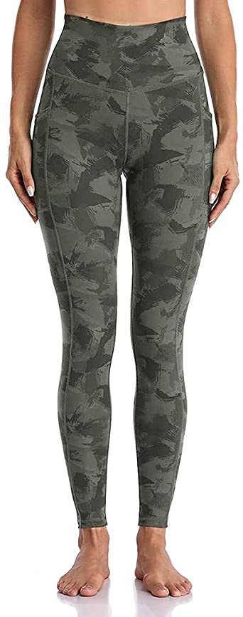 COLNER 2020 Women's High Waist Yoga Pants,Printed Leggings for Women 4 Way Stretch Yoga Leggings Ful