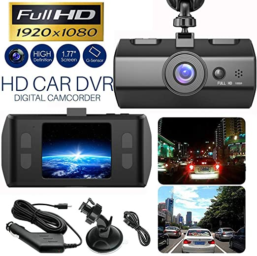 WQG Dash Cam,Full HD 1080P Car DVR Vehicle Digital Car Camera Video Recorder Dash Cam Night Vision C