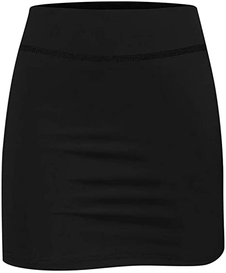 Yali Women's Sports Short Skirts, Pleated Skirts with Hidden Pockets for Exercise, Golf Tennis Runni