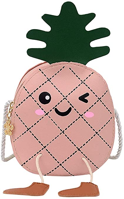 2020 New Kids Children Girls Cute Cartoon pineapple Messenger Crossbody Bag Shoulder Bags