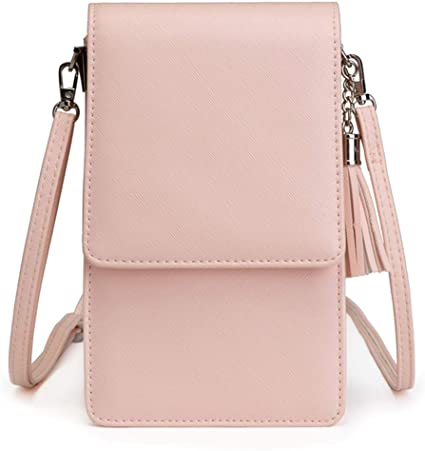 Small Crossbody Bag Purses for Women Travel Passport Holder Phone Purse Tassel Wallet for Girls