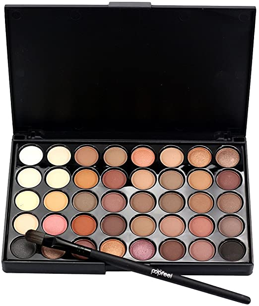 40 Color Cosmetic Matte Eyeshadow Cream Makeup Palette Shimmer Matte Glitter Set + Brush Set