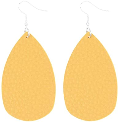 1/13 Pairs Creative Leather Several Drops Teardrop Earrings Ladies Gift Jewelry