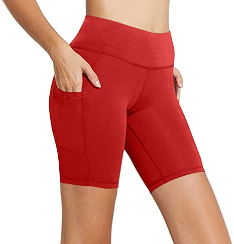 2020 Women's Yoga Shorts Workout & Training Shorts High Waist Yoga Side Pocket Athletic Shorts A
