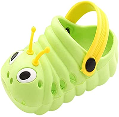 Toddler Girls Boys Walking Slippers - Kids Water Sandals, Funny Animal Caterpillar Designed Charm Sh