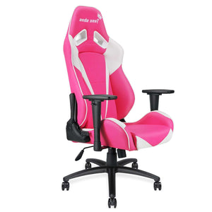 Anda Seat Pretty In Pink Gaming Chair (White/Pink) - AndaSeatCanada