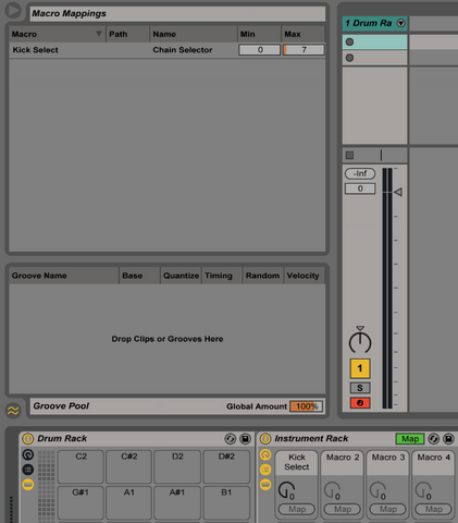 How to create Ableton Drum Racks with Scrollable Pad Banks – The