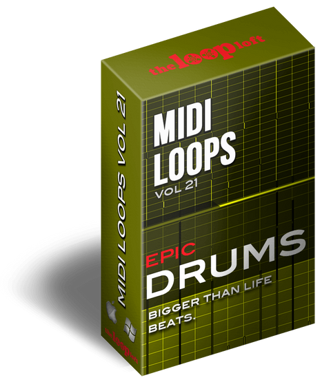 The Loop Loft Loop Pack Epic Drums Vol 1 - MIDI Drum Loops