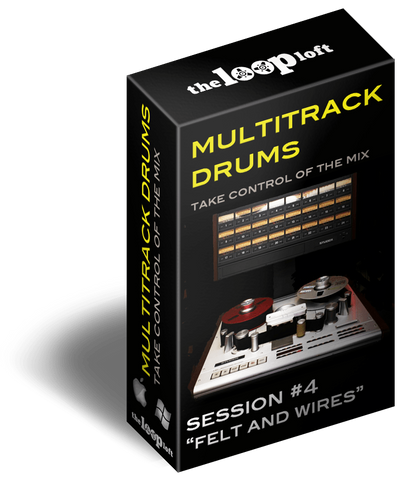 The Loop Loft Loop Pack Felt and Wires - Multitrack Drums Session #4