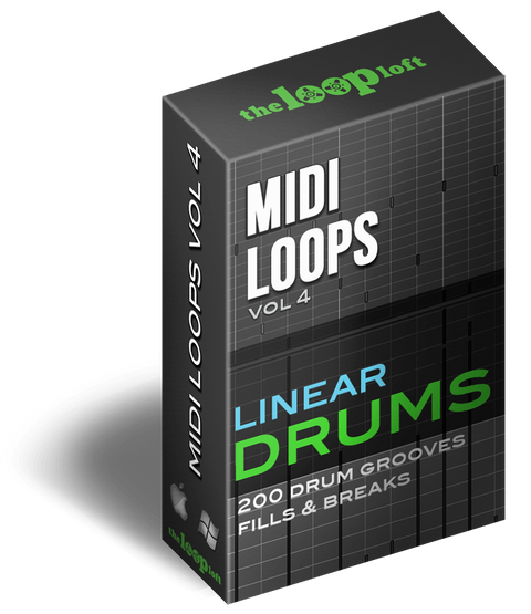 The Loop Loft Loop Pack Linear Drums - MIDI Drum Loops