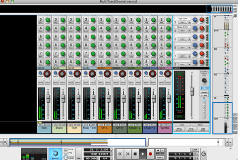 The Loop Loft Loop Pack Live Dubstep - Multitrack Drums Session #9