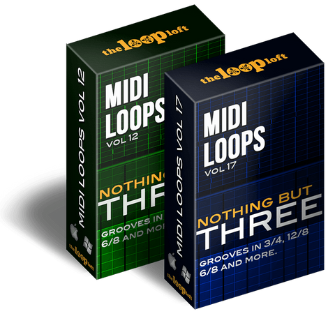 The Loop Loft Loop Pack Nothing But Three Bundle - MIDI Drum Loops