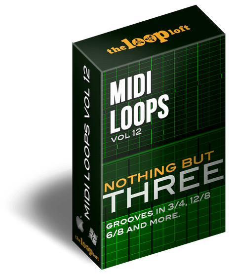 The Loop Loft Loop Pack Nothing But Three - MIDI Drum Loops