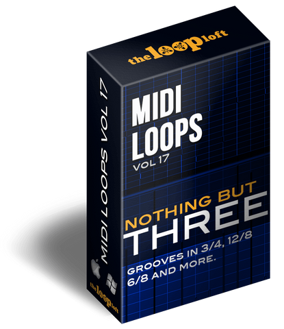 The Loop Loft Loop Pack Nothing But Three Vol 2 - MIDI Drum Loops