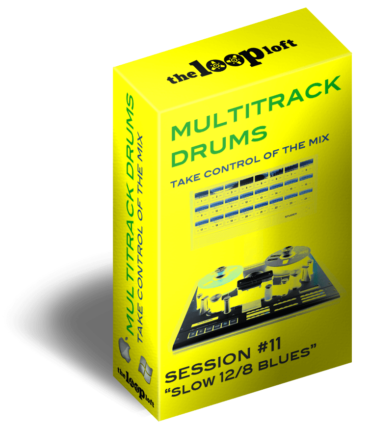 The Loop Loft Loop Pack Slow 12/8 Blues Loops - Multitrack Drums Session #11