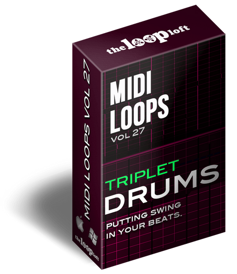 The Loop Loft Loop Pack Triplet Drums Vol 1 - MIDI Drum Loops