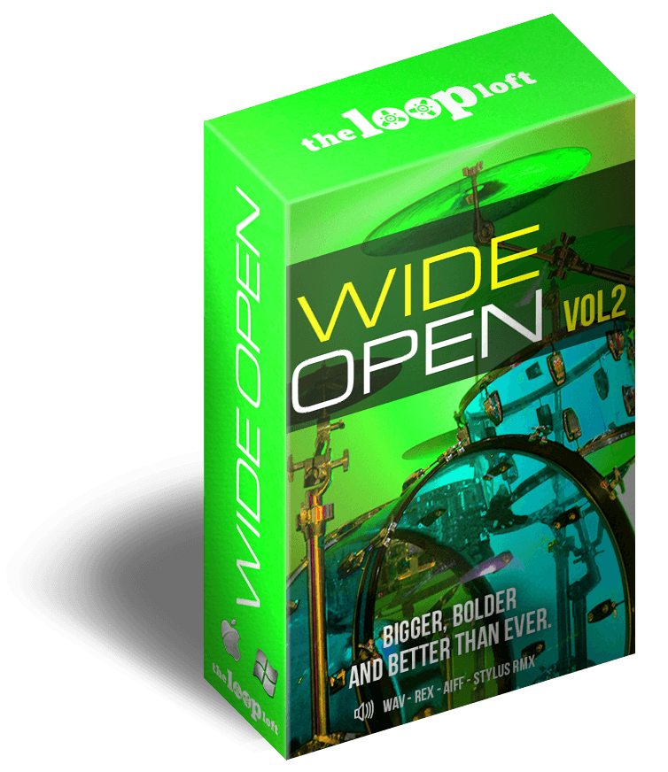 The Loop Loft Loop Pack Wide Open Drums Vol 2