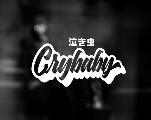 CRYBABY DECAL - WHITE