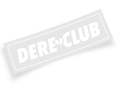 Dere Club Logo White Vinyl Decal