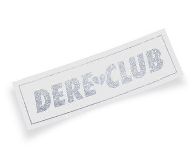 Dere Club Logo Sparkle Vinyl Decal