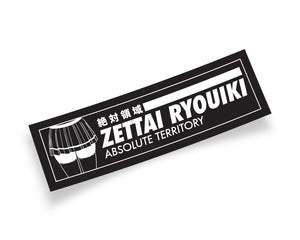 Zettai Ryouiki Anime Girl Slap Sticker Black and White