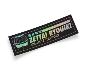 Zettai Ryouiki Anime Girl Slap Sticker with Holographic Finish