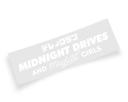 MAGICAL GIRLS DECAL - WHITE