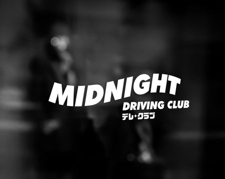MIDNIGHT DRIVING CLUB DECAL - WHITE