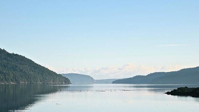 Serene view of the San Juan Islands in Washington