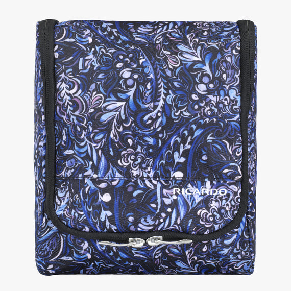 Toiletry Organizer Essentials 2.0 10-inch Hanging Organizer in Blue Twist Front View in  in Color:Blue Twist in  in Description:Front