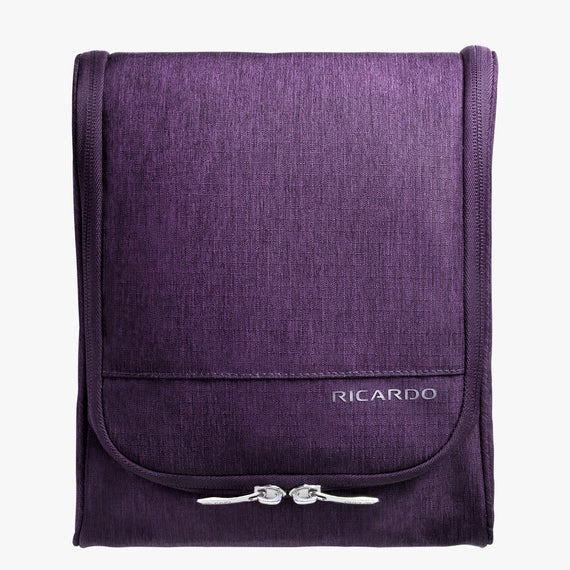 Toiletry Organizer Essentials 10 inch Organizer in Aubergine Front View in  in Color:Aubergine in  in Description:Front