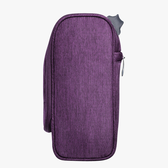 Toiletry Organizer Essentials 10 inch Organizer in Aubergine Side View in  in Color:Aubergine in  in Description:Side