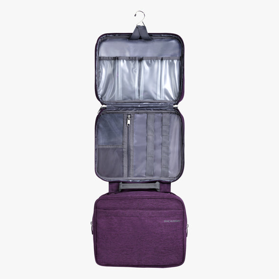 Deluxe Organizer Essentials 13-inch Organizer in Aubergine Open View in  in Color:Aubergine in  in Description:Opened