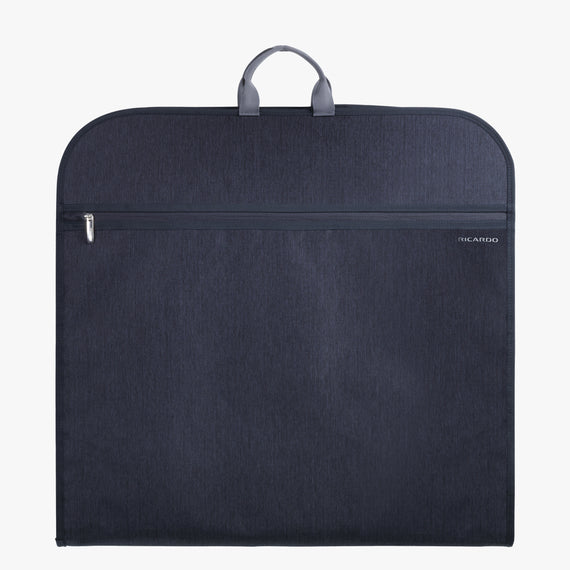 Garment Carrier Essentials 45 inch Garment Bag in Graphite Half View in  in Color:Graphite in  in Description:Front