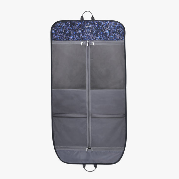 Garment Carrier Essentials 2.0 45-inch Garment Bag in Blue Twist Open View in  in Color:Blue Twist in  in Description:Opened