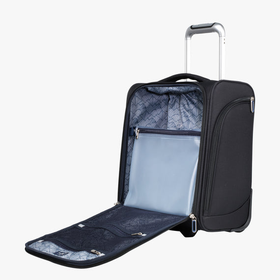 Small Carry-On Mirage 3.0 Carry On in Black Open View in  in Color:Black in  in Description:Opened