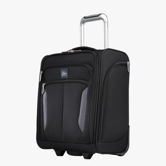 Small Carry-On Mirage 3.0 Carry On in Black Quarter Front View in  in Color:Black in  in Description:Angled View