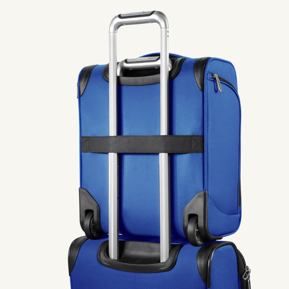 Small Carry-On Mirage 3.0 Carry On in Real Blue Back Angle View in  in Color:Real Blue in  in Description:Back Angle
