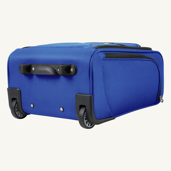 Small Carry-On Mirage 3.0 Carry On in Real Blue Bottom View in  in Color:Real Blue in  in Description:Bottom
