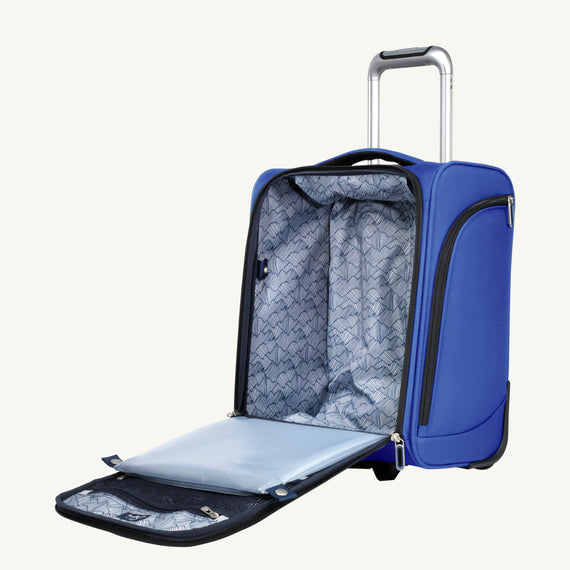 Small Carry-On Mirage 3.0 Carry On in Real Blue Alternate Open View in  in Color:Real Blue in  in Description:Open Detail