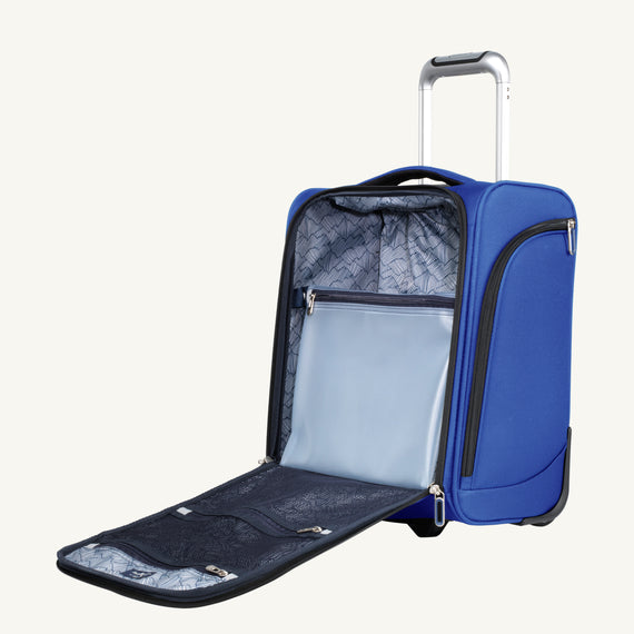 Small Carry-On Mirage 3.0 Carry On in Real Blue Open View in  in Color:Real Blue in  in Description:Opened