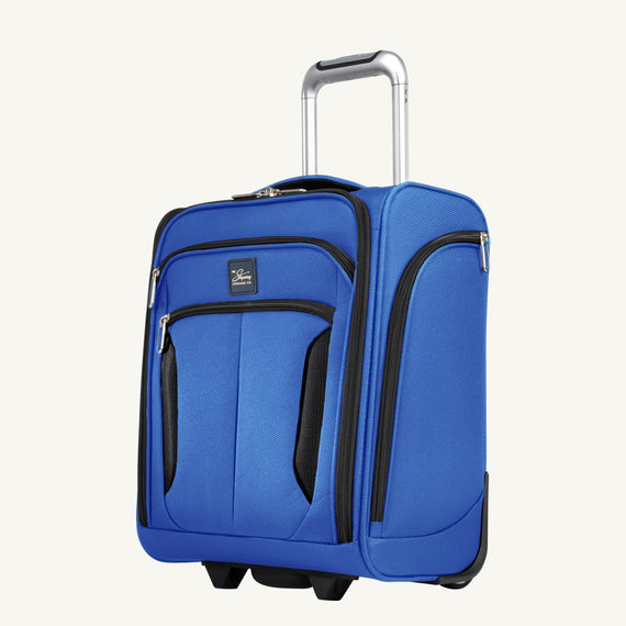 Small Carry-On Mirage 3.0 Carry On in Real Blue Quarter Front View in  in Color:Real Blue in  in Description:Angled View