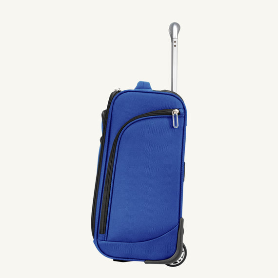 Small Carry-On Mirage 3.0 Carry On in Real Blue Side View in  in Color:Real Blue in  in Description:Side