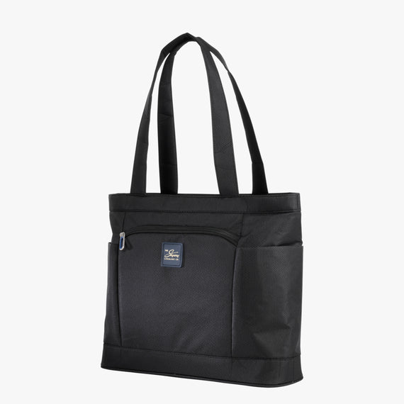 Travel Tote Mirage 3.0 Travel Tote in Black Angled View in  in Color:Black in  in Description:Angled View