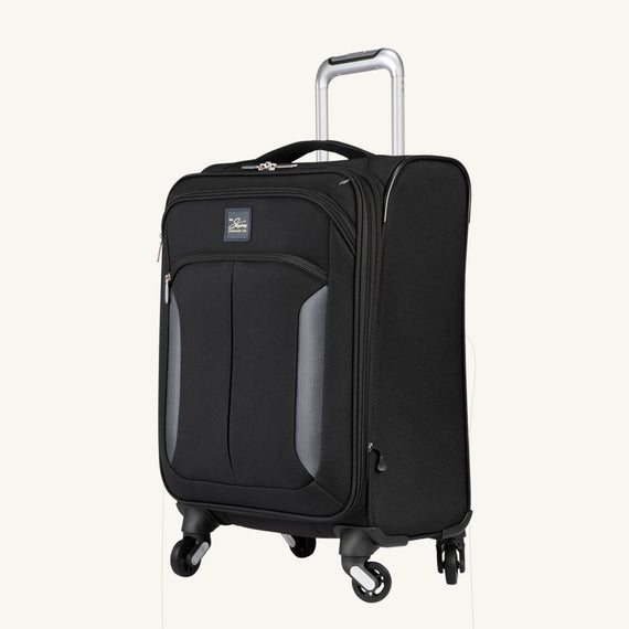 Carry-On Mirage 3.0 Carry On in Black Quarter Front View in  in Color:Black in  in Description:Angled View