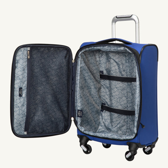 Carry-On Mirage 3.0 Carry On in Blue Open View in  in Color:Real Blue in  in Description:Open