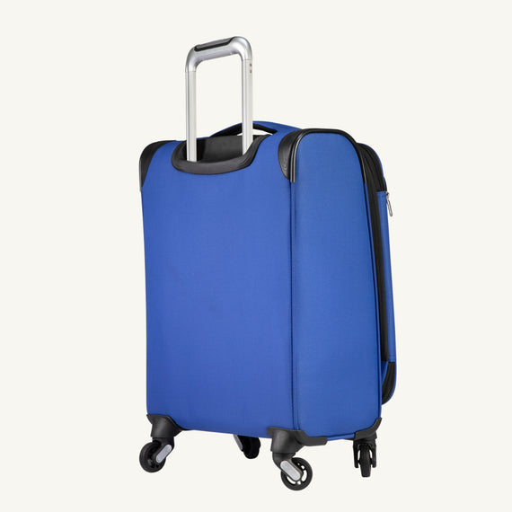 Carry-On Mirage 3.0 Carry On in Blue Back Angle View in  in Color:Real Blue in  in Description:Back Angle