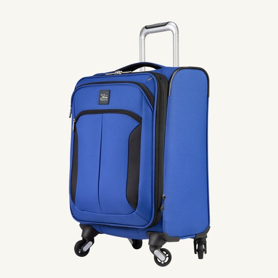 Carry-On Mirage 3.0 Carry On in Blue Quarter Front View in  in Color:Real Blue in  in Description:Angled View