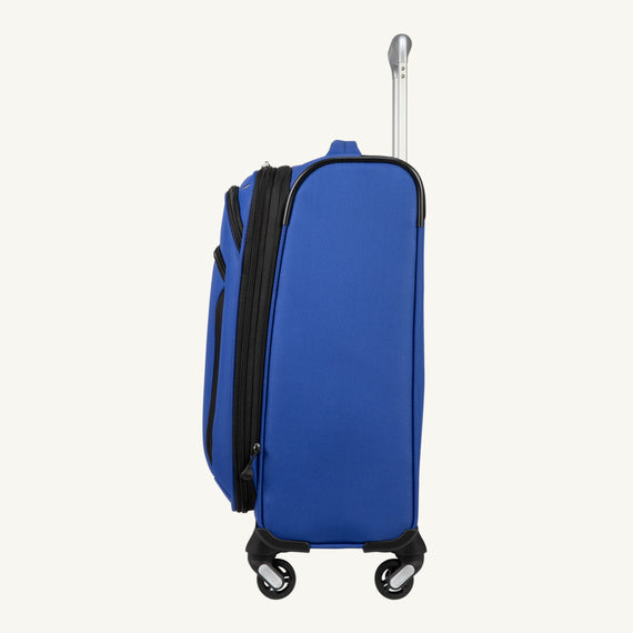 Carry-On Mirage 3.0 Carry On in Blue Side View in  in Color:Real Blue in  in Description:Side