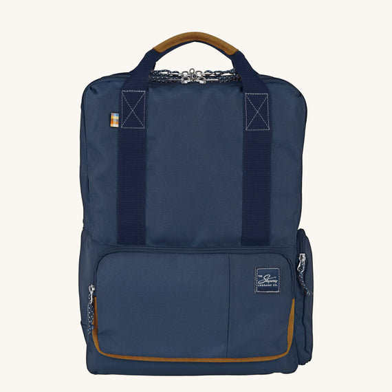 Travel Tech Backpack Whidbey 18-inch Backpack in Midnight Blue Front View in  in Color:Midnight Blue in  in Description:Front
